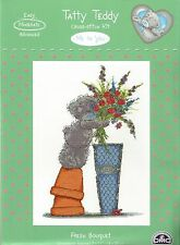 DMC ME TO YOU TATTY TEDDY FRESH BOUQUET OF ROSES CROSS STITCH KIT
