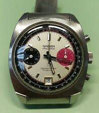 70's Gruen Precision Rallye Chronograph Watch Gruen Bracelet Valjoux 7734 Estate