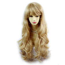 Sexy Beautiful Layered wavy Blonde mix Long Ladies Wigs Skin Top from WIWIGS UK