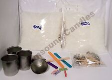 Votive Candle Making kit. 4 Moulds, wicks and 1.6 kilos of beaded wax included