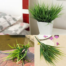Artificial Fake Plastic Green Grass Plant Flowers Table Home Office Garden Decor