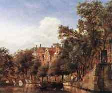 Heyden Jan Van Der View Of The Herengracht Amsterdam A4 Print