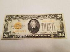 1928 $20 GOLD CERTIFICATE!!!!