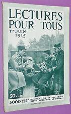 LECTURE POUR TOUS 1915 GUERRE 14-18 MARINE ARTILLERIE OBUS CYCLES U-BOOT AVIONS