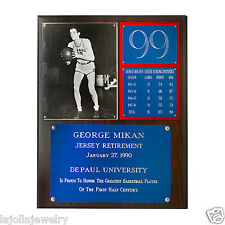 George Mikan Jersey Retirement DePaul 99 Plaque