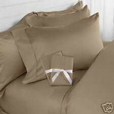 KING SIZE TAUPE SOLID SHEET SET 1000 TC 100% EGYPTIAN COTTON