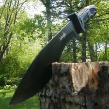 "15"" SURVIVAL HUNTING Full Tang Kukri FIXED BLADE KNIFE Machete Axe w/ SHEATH"