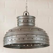 Country new polished tin BREAKFAST TABLE hanging pendant light / nice