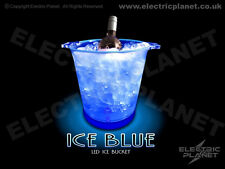 Blue Light-Up LED Ice Bucket / Wine Cooler - Battery Powered