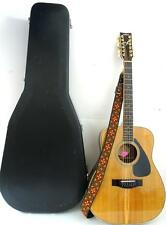 VINTAGE YAMAHA FG 460S 12A 12 STRING ACOUSTIC GUITAR w/HARD CASE & STRAP & PICK