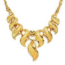 """Latest 24k Yellow Gold Filled Womens Charms Necklace 20"""" Chain Unique Link Hot"""