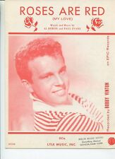 Roses Are Red (My Love) Bobby Vinton ALBryon Paul Evens    Sheet Music