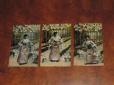 Antique Postcard Lot Baby Child Orphan Lady w/ Bucket Pail Garden &More (pt511)