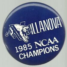 VILLANOVA WILDCATS 1985 NCAA CHAMPIONS BASKETBALL PIN BUTTON