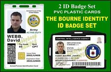 THE BOURNE IDENTITY ID Badge Set Prop - Jason Bourne's CIA and US ARMY ID