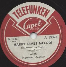 Herman Stachow an der Zither 1950  : Harry Lime Thema - Der dritte Mann