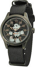 Disney / Ingersoll din008bkbk Gents MICKEY MOUSE Watch Con Nero Nylon Strap