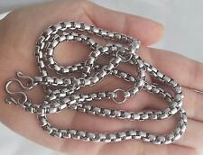 Necklace Thai Stainless Amulet Buddha Steel Pendant Solid Power 3 Hook Chain Lp.