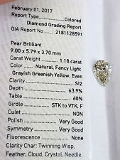 Pear Shape Cut 100% Natural LOOSE DIAMOND GIA Certified Fancy Color 1.05 Ct