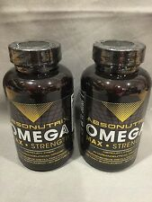 2  Absonutrix Omega 3 Max Strength Fish Oil Pharmaceutical Grade 60 Softgels