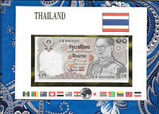E Banknotes of All Nations Thailand 1980 10 Baht  P87a.8  UNC sign 58