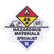 Hazardous Materials Haz Mat Specialist Sew On Uniform Patch Firefighter Rescue
