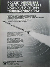 4/1980 PUB IMI ISRAEL MILITARY INDUSTRIES SOLID PROPELLANT ROCKET MOTOR AD