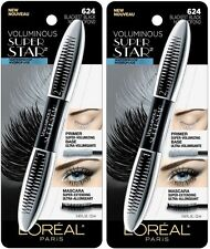 (2) TWO Waterproof Loreal Voluminous Super Star Mascara, 624 Blackest Black!