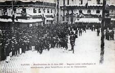CPA 44 NANTES MANIFESTATIONS 14 JUIN 1903 BAGARRE ENTRE CATHOLIQUES ET MANIFESTA
