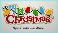 Craftecafe Mindy First Christmas baby title premade paper piecing scrapbook page