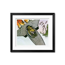 Calvin and Hobbes Tyrannosaurus Rex in F-14s Poster Print