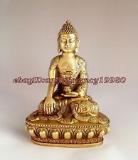 antique excellent Large Tibet Tibetan brass Medicine Buddha Statue
