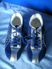 ASICS~Blue & Silver Track & Field Running Shoes~Women's Size 7