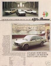 1976 ? Alfa Romeo Brochure Sport Sedan Sprint Spider