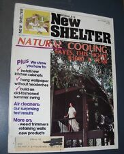 RODALE'S NEW SHELTER MAGAZINE JUL/AUG 1982 INSTALL KITCHEN CABINETS NATURAL COOL