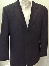 HUGO BOSS EINSTEIN/OMEGA BLACK & GRAY TORELLO VIERA LUXURY FABRIC JACKET SZ 44R,