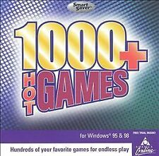 1000+ Hot Games (PC, 1999) Window 95 / 98   Never Used in a Jewel Case