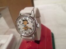 "Vintage LUCY ""peanuts"" 1958 feature syndicate Timex Watch Old store stock"