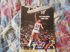 1980-81 INDIANA STATE SYCAMORES BASKETBALL MEDIA GUIDE Yearbook Program 1981 AD