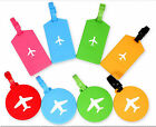 Plane Silicone Travel Luggage Tags Baggage Suitcase Bag Labels Name Address