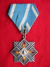 Lettland Feuerwehr Medaille Ehrenzeichen am Band