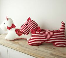 Knitted Westie Doorstops - West Highland White Terrier