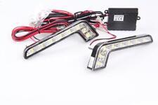 2x Stück L-Form LED 6000K 12V DRL TFL Tagfahrlicht 8 SMD TÜV FREI + R87 Modul