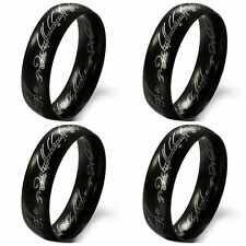 100PCS  black Stainless Steel  LOTR Lord of Rings lots wholesale
