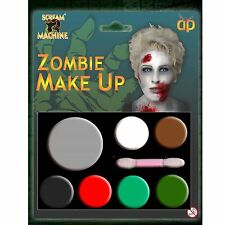 Scream Machine Branded Zombie Make Up Kit for Halloween Costumes and Fancy Dress