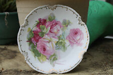 Victorian Z S & C2 German BAVARIA MARSEILLE~  Hand Painted  Roses Plates
