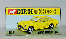 CUSTOM MADE DISPLAY BOX FOR CORGI JUNIORS B110 ASTON MARTIN DB6 YELLOW