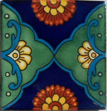 "90 Ceramic Handmade Wall Clay Backsplash Mexican Tiles Talavera 4x4"" C324"