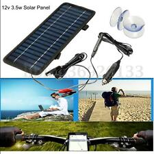 12V 3.5W Portable Power Solar Panel Battery Charger For Car Boat Motorcycle