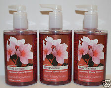 3 BATH BODY WORKS JAPANESE CHERRY BLOSSOM ANTI BACTERIAL HAND SANITIZER GEL LOT